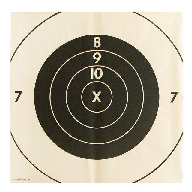 Vintage Extra-Large Bullseye Target Poster - Image 1 of 2