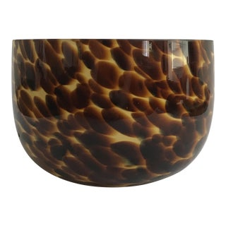 Brown Handblown Glass Bowl