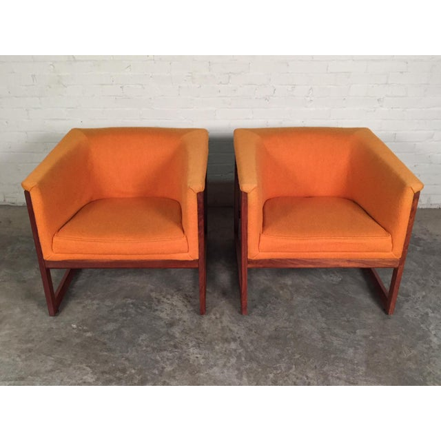 Milo Baughman Mid-Century Modern Floating Cube Chairs - A Pair - Image 3 of 10