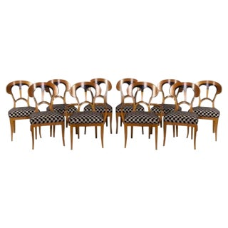 Biedermeir-Style Chairs by John Widdicomb - S/10