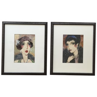 """George Hamilton """"Coco"""" & """"Coy"""" Paintings - A Pair"""
