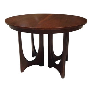 Mid-Century Modern Dark Walnut Broyhill Brasilia Dining Table