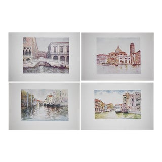 Mortimer Menpes Antique Lithographs of Venice - Set of 4
