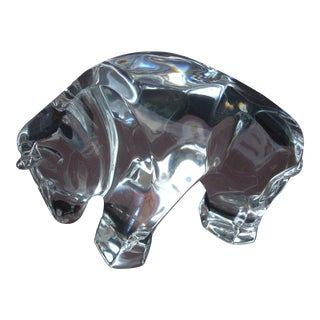 Waterford Clear Crystal Bull
