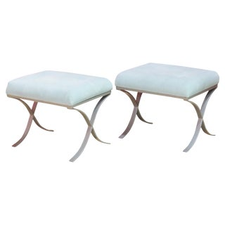 Modern Design Tufted Upholstered Benches - a Pair