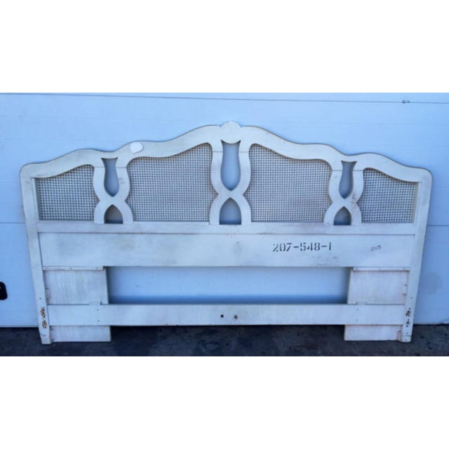 Vintage Shell Carved King Size Headboard - Image 6 of 6