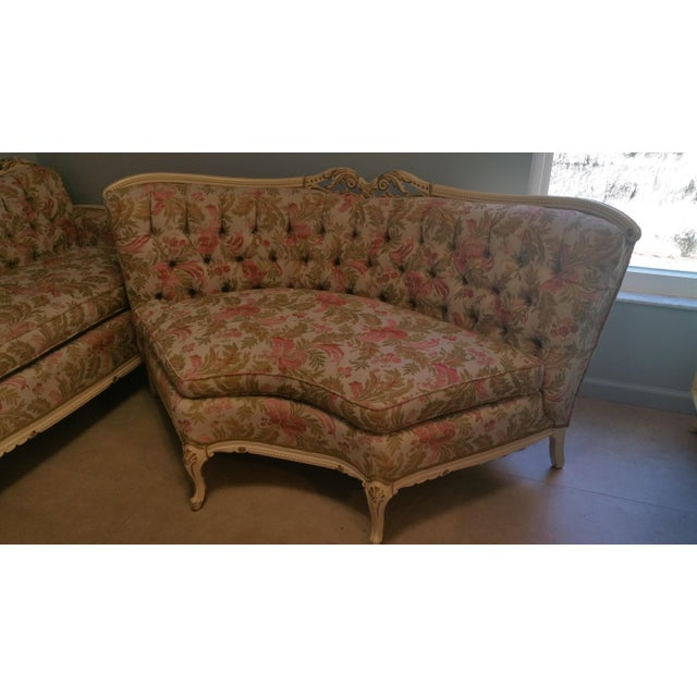 Vintage French Style Tufted Sofa- Corner Available 3 Pcs - Image 8 of 10