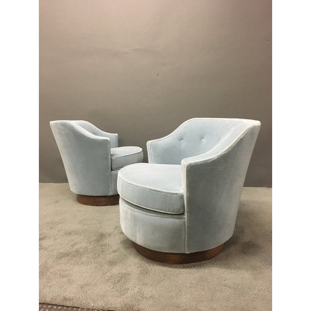 Mid-Century Modern Mohair Chairs - A Pair - Image 6 of 10