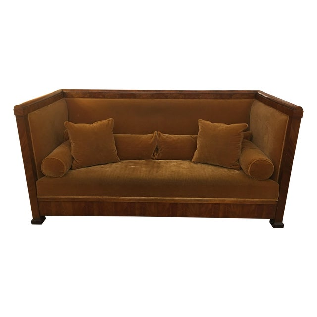 custom british colonial style mohair sofa chairish. Black Bedroom Furniture Sets. Home Design Ideas