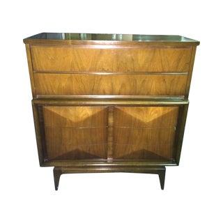 Diamond Sculpted Front Highboy Dresser