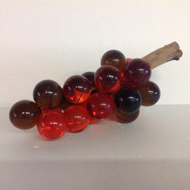Vintage Mid-Century Orange Lucite Grapes - Image 2 of 7