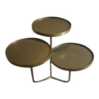 Noir Tre Metal Tiered Accent Table