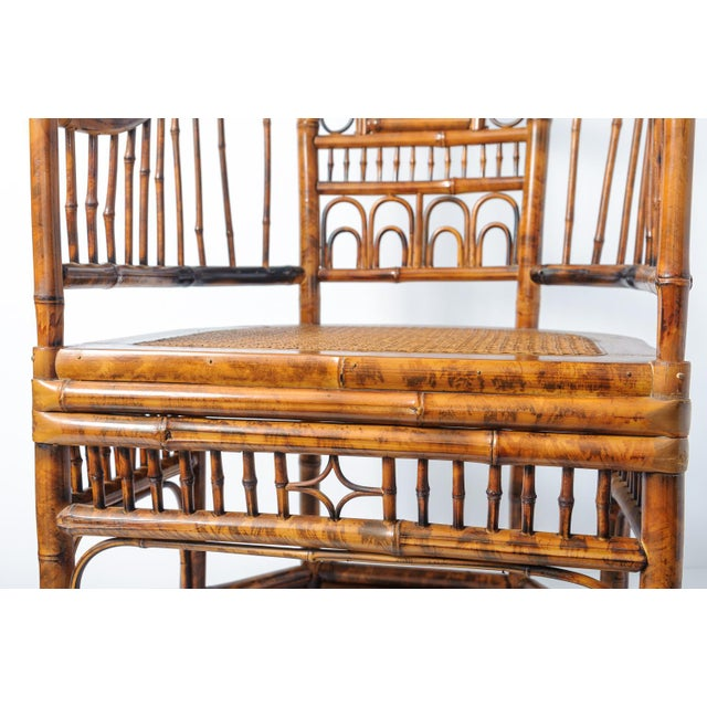 Vintage High Back Bamboo Caned Chairs- A Pair - Image 8 of 10