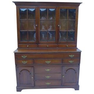 Vintage Cherry Wood Cabinet - 2 Pieces