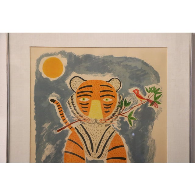 Tiger & Bird Lithograph by Henri Maik - Image 3 of 8