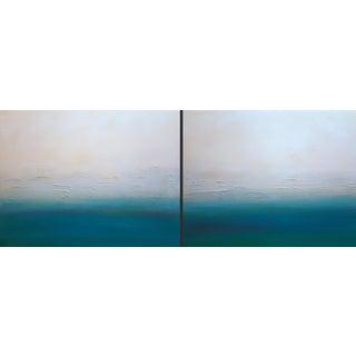 """""""Modern Sunset"""" Original Paintings - Pair"""