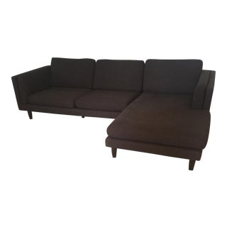 Mid-Century Brown Tweed Sectional