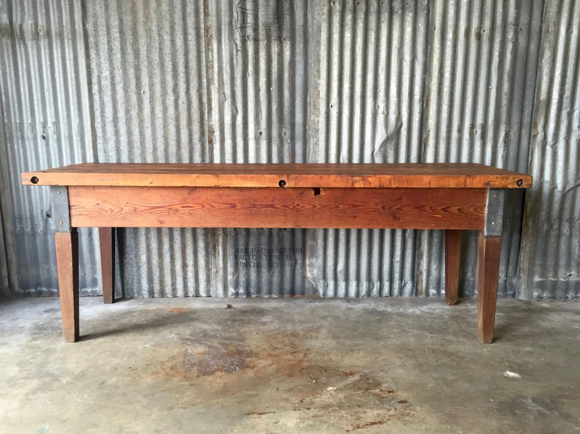 vintage butcher block table chairish