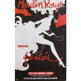 Original Rene Gruau French Moulin Rouge Poster