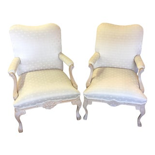 Carls Furniture Beige Arm Chairs - A Pair