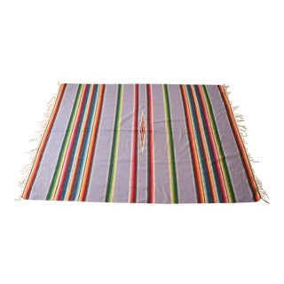 Vintage Lavender Mexican Serape Throw