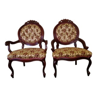 Carlton McLendon Furniture Co. Victorian Chairs - A Pair