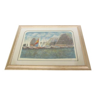 """""""Boat Racing in Monaco"""" Signed Limited Edition Lithograph"""