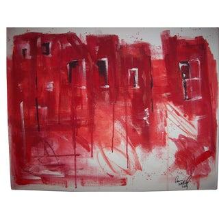 """Dawn Walling """"Severed City"""" Original Mixed Media Painting"""