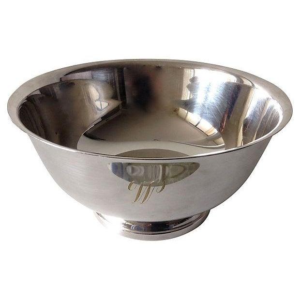Image of Silver Plate Engraved Large Gorham Bowl