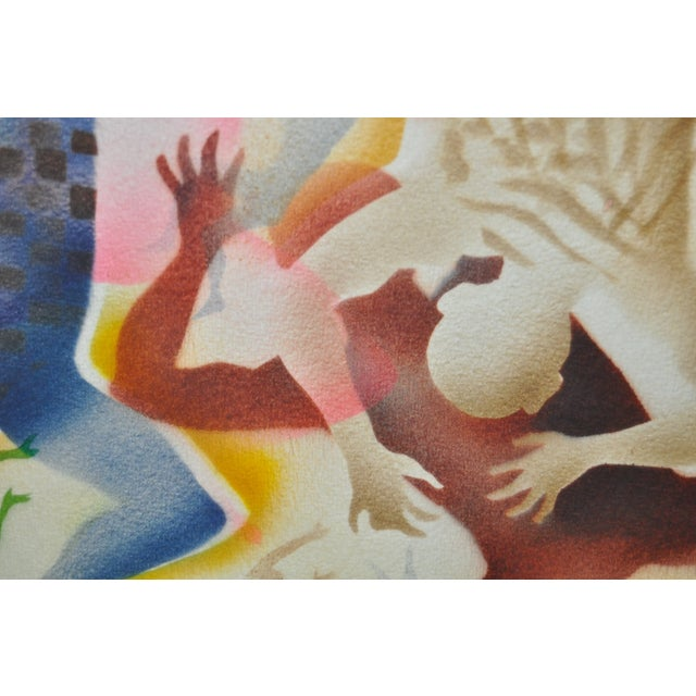 Mid-Century Modern Airbrush Painting by McBride - Image 8 of 11