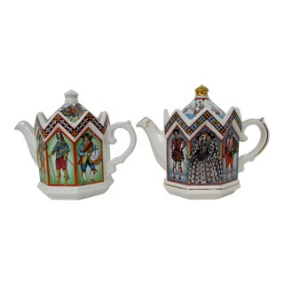 English Porcelain Teapots, a Pair