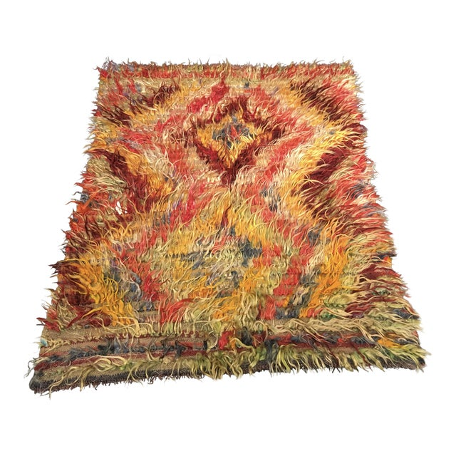 "Image of Vintage Bellwether Turkish Toloo Kilim Rug - 3'5""x4'3"""