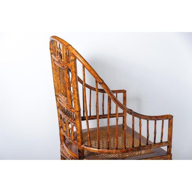 Vintage High Back Bamboo Caned Chairs- A Pair - Image 4 of 10