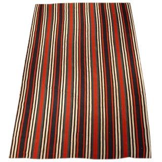 Striking Striped Northwest Persian Jajim Flat-Weave