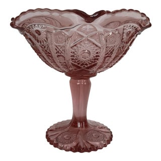 Imperial Glass Pink Compote