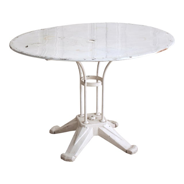 Vintage Cast Iron Bistro Table - Image 1 of 7