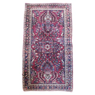 Antique Persian Sarouk Rug - 2′1″ × 4′