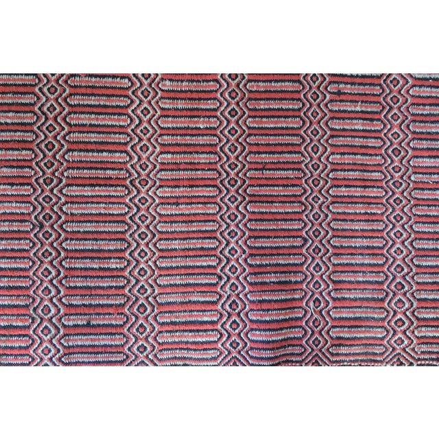 "Vintage Handwoven Red Wool Rug - 2'7"" x 5'1"" - Image 5 of 5"