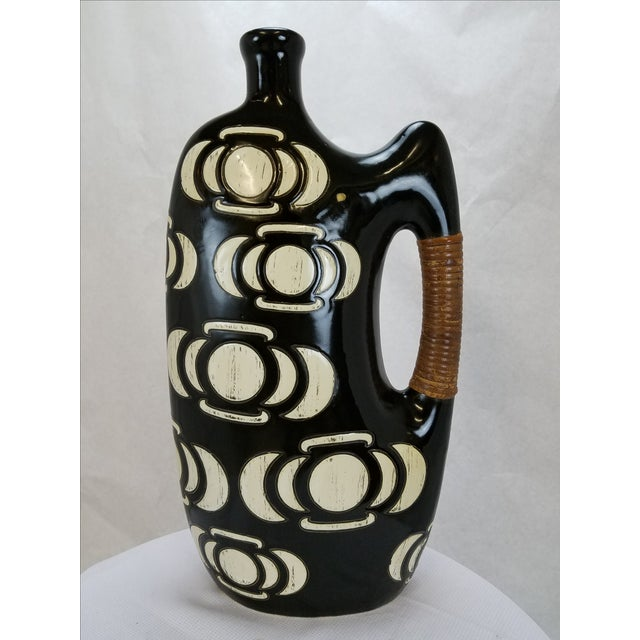 Modern Black & White Vase / Urn - Image 2 of 5
