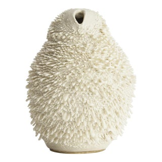 Unique, hand-thrown Vagina Owl Accretion vase
