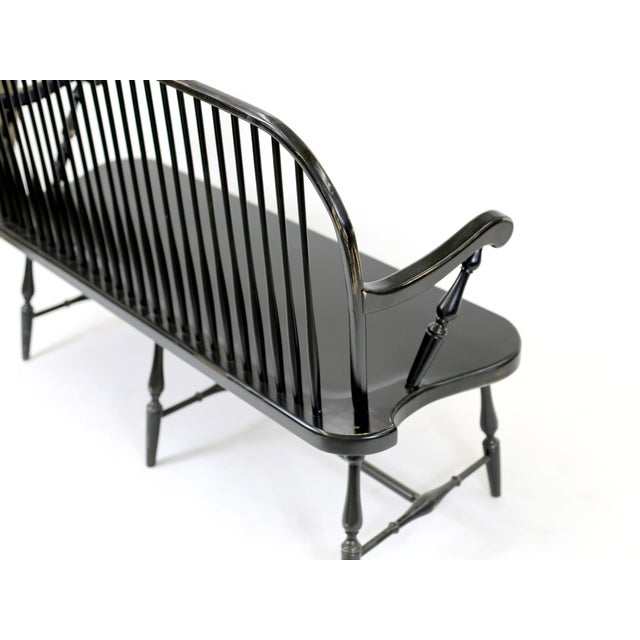 Traditional Windsor Style Amish Bench - Image 9 of 11