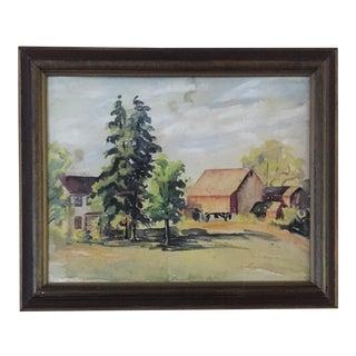 Vintage Landscape Watercolor