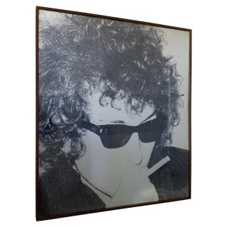 Vintage Bob Dylan Print Screened on Silver