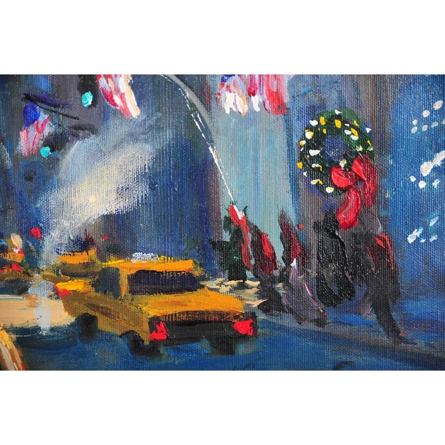 """""""Downtown Manhattan 4th July,"""" Oil Painting - Image 5 of 10"""