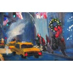 """Image of """"Downtown Manhattan 4th July,"""" Oil Painting"""