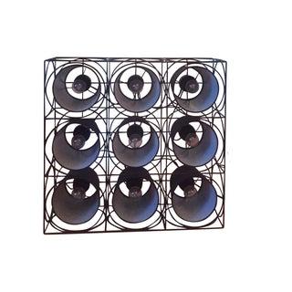 Black Mult-Square Floor Lamp