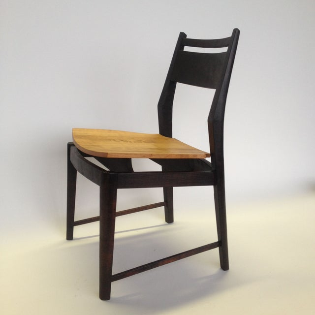 Contemporary danish modern dining chairs s 4 chairish for Modern dining chairs ireland
