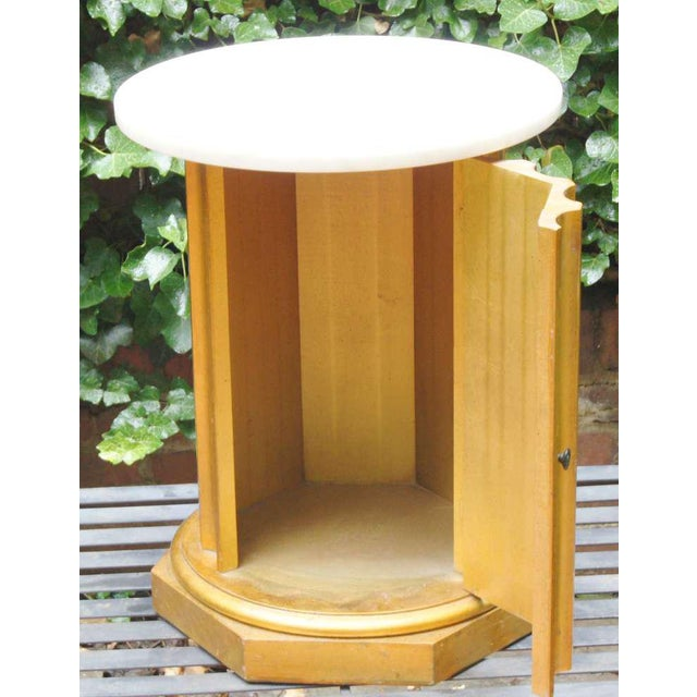Marble Column Side Table - Image 5 of 11
