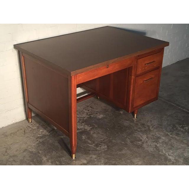 Hoosier Mid-Century Modern Walnut Desk - Image 8 of 10