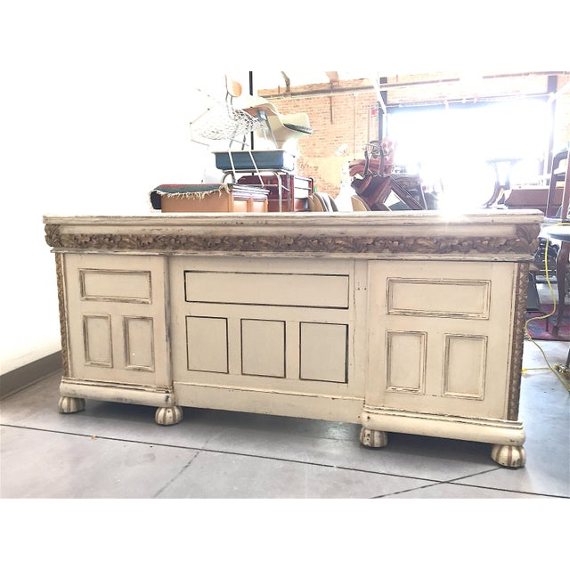 Antique White French Desk - Image 7 of 7